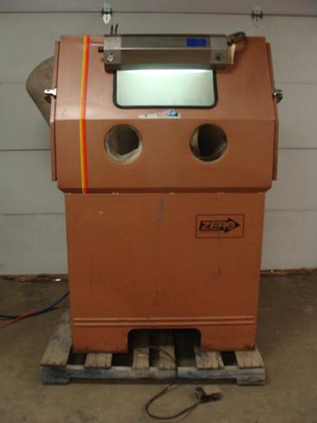 Used Zero Glass Bead Blasting Cabinet Model 55 6 300r Df